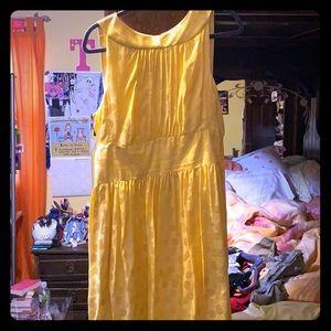 Maggy London Yellow Silk Dress